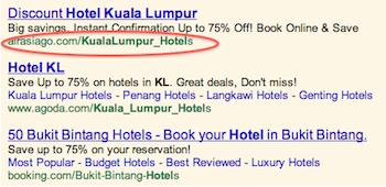 Google Ads URL Display